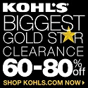 18022_Kohl's Gold Star Clearance! Save 60-80%