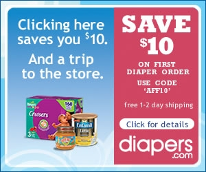 $10 Off Diapers or Formula with Code AFF10! $49 minimum total order, new customers only.