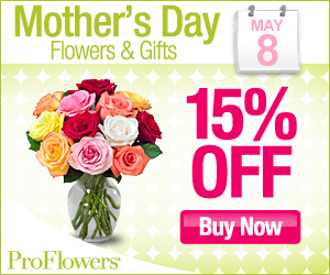 15% off Flowers & Gifts for Mom (min $39.99)